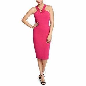 Rachel Roy  Medium Azalea Hot Pink Dress M6-05